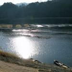 冬の五ヶ瀬川